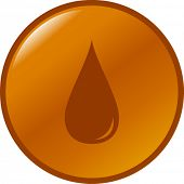 stock photo of oil drop  - gasoline or diesel drop button - JPG