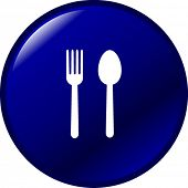 spoon and fork button