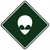 stock photo of ovni  - alien sign - JPG