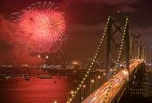 Bay Bridge, San Francisco Fireworks