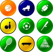 sport equipment buttons