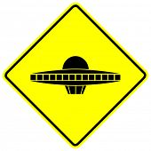 ufo space ship sign