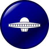 image of ovni  - ufo ship button - JPG
