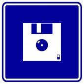floppy disk or diskette sign