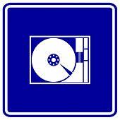 hard drive sign