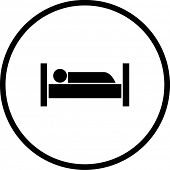 pic of goodnight  - sleeping in bed symbol - JPG