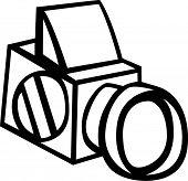 Постер, плакат: Средний формат фотографии камеры
