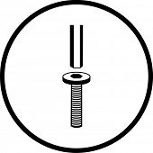 hex wrench and screw symbol