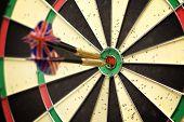 Darts In Bull'S Eye