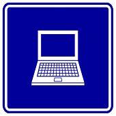 laptop sign