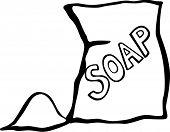 laundry soap or detergent bag