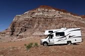 Motorhome In Desert Wilderness