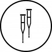 crutches symbol