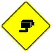 closed circuit television system security camera sign