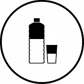 foto of plastic bottle  - bottled water symbol - JPG
