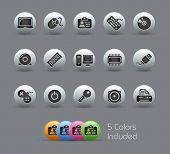Computer & Devices // Pearly Series -------It includes 5 color versions for each icon in different l
