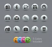 Office & Business // Pearly Series -------It includes 5 color versions for each icon in different la