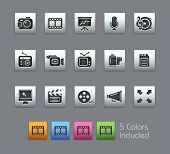 Multimedia // Satinbox Series -------It includes 5 color versions for each icon in different layers