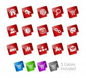 Web Site & Internet // Stickers Series -------It includes 5 color versions for each icon in differen