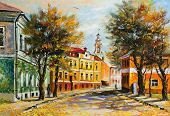 picture of masterpiece  - Ancient Vitebsk in the autumn - JPG