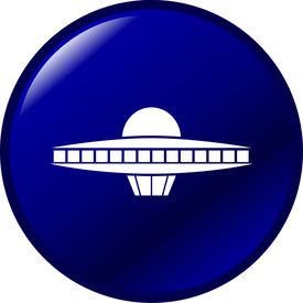 foto of ovni  - ufo ship button - JPG