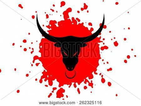 Taurus Black Angry Bull Head