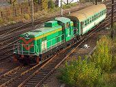 Diesellokomotive schleppen Bahn Auto 1027 10 wechseln