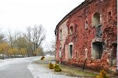 pic of brest  - Wall of the Brest Fortress in Brest Belarus - JPG