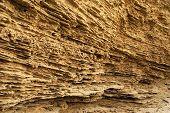 Ein Sediment-Cliff In Wüste