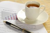 A cup of tea on business report