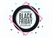 Black Friday. Web Banner, Logo, Emblem And Label. Holiday Sales On Friday.vector Abstract Background poster