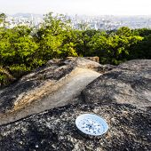Dont Lose Your Way. Reliable Compass On Stone In Seoul, South Korea. poster