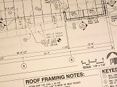 Antique Weathered Blueprint