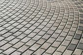 Paving Stones. Concept Of Laying Paving Slabs And Pavers. Paving Stones. Concrete Pavement Blocks poster