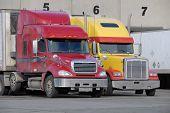 Trucks At Fruit Warehouse