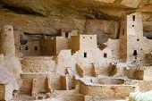 Ancient Indian city at Mesa Verde, Colorado