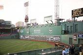 Green Monster seating at Fenway park in Boston, Massachusetts