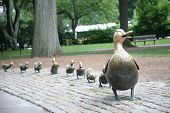Make Way For Ducklings sculpture in Boston's famous public gardens