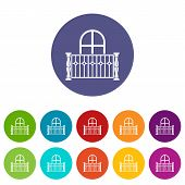 Apartment Balcony Icon. Simple Illustration Of Apartment Balcony Vector Icon For Web poster