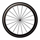 aerodynamische front Straße oder Zeit Probe Rad mit Reifen