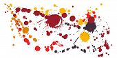 Watercolor Paint Stains Grunge Background Vector. Scribble Ink Splatter, Spray Blots, Dirty Spot Ele poster