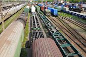 stock photo of boxcar  - Railway goods station in the Vladivostok - JPG
