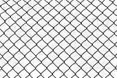 vector of wired fence