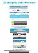 25 designed web 2.0 menus