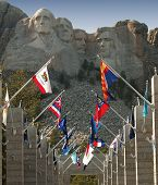 image of mount rushmore national memorial  - Mount Rushmore in the Black Hills of South Dakota - JPG