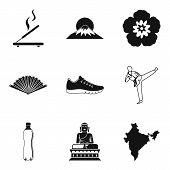Spiritual Balance Icons Set. Simple Set Of 9 Spiritual Balance Icons For Web Isolated On White Backg poster