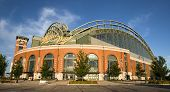 Milwaukee, wi jul 15: Miller Park ist ein Baseballstadion in Milwaukee, Wisconsin am 15. Juli 2009.