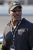 DAYTONA BEACH, FL - FEB 14:  Heavyweight Champion, Evander Holyfield, watches his race team qualify for the Camping World 300 NASCAR Nationwide Series opener on Feb 14, 2010 in Daytona Beach, FL .