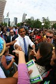 CHARLOTTE, NC - SEP 21:  Democratic nominee, Barack Obama, makes a campaign stop on Sept 21, 2008 in