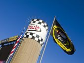 FONTANA, CA - OCT 10:  The Auto Club Speedway plays host to the Pepsi Max 400 race at the Auto Club